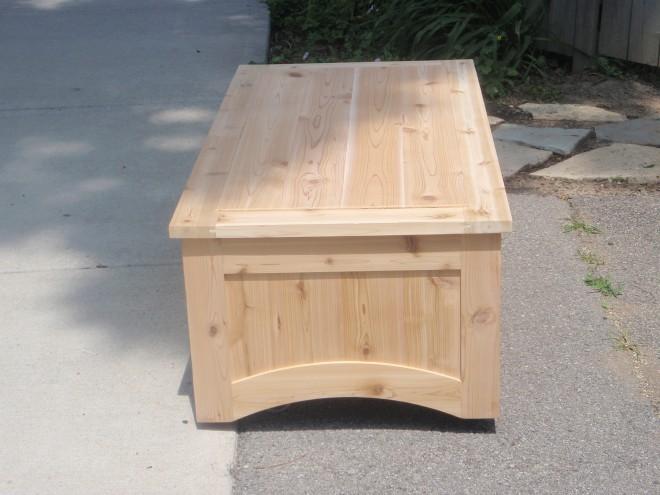Custom Western Red Cedar Deck Box